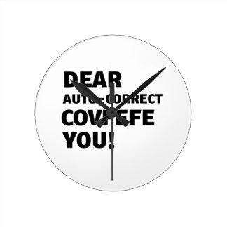 Covfefe Tshirts Round Clock