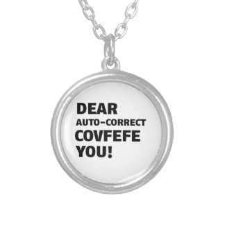 Covfefe Tshirts Silver Plated Necklace
