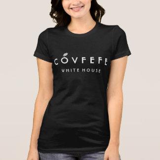 COVFEFE White House   Funny Women's Black Cotton T-Shirt