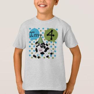 Cow 4th Birthday T-Shirt
