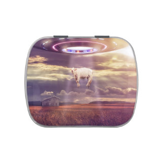 Cow Abducted by Aliens Fantasy Art