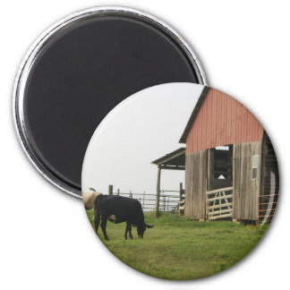 cow and barn magnet