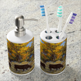 Cow and Calf Toothbrush Holder & Soap Dispenser