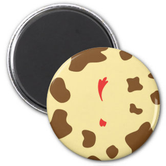 Cow and Chicken 2 Inch Round Magnet