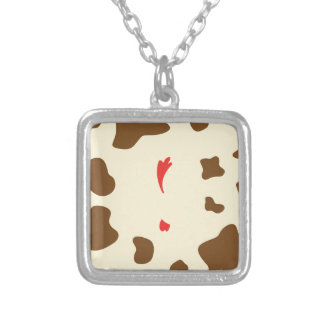 Cow and Chicken Silver Plated Necklace
