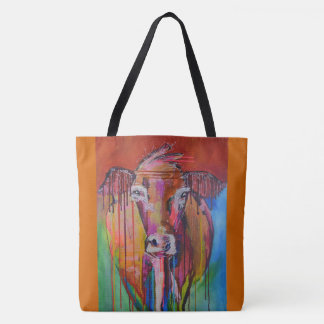 Cow and Horse Tote Bags
