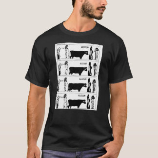 Cow and Ivana mens T-shirt (full panel)