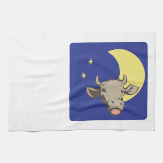 Cow And Moon Kitchen Towel