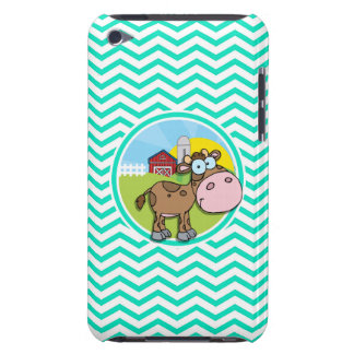 Cow Aqua Green Chevron iPod Case-Mate Cases