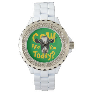 Cow Are You Today Funny Slogan Watch
