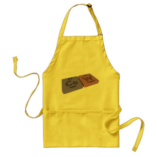 Cow as Co Cobalt and W Tungsten Standard Apron