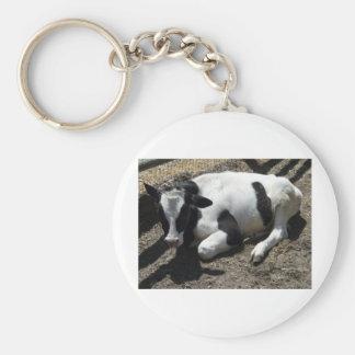 cow,baby basic round button keychain