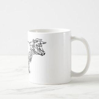 Cow Beef Food Grunge Style Hand Drawn Icon Coffee Mug