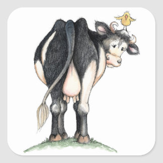 Cow Behind - Stickers