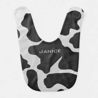 Cow Black and White Print Bib