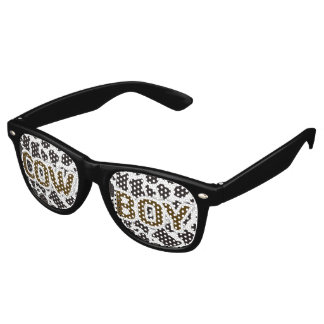Cow Boy Cow pattern background Party Shades