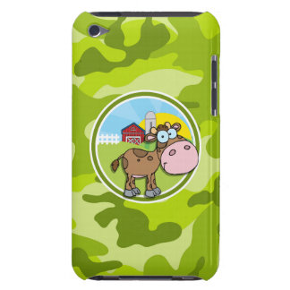 Cow bright green camo camouflage iPod touch covers