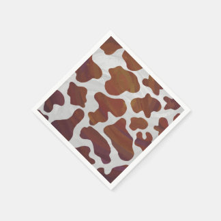 Cow Brown and White Print Disposable Napkin
