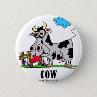 Cow by Lorenzo © 2018 Lorenzo Traverso 2 Inch Round Button