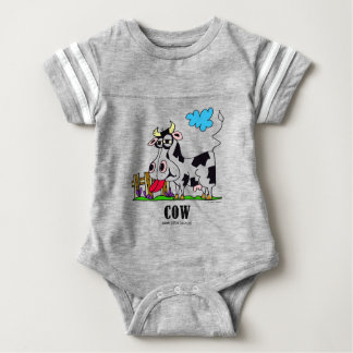 Cow by Lorenzo © 2018 Lorenzo Traverso Baby Bodysuit