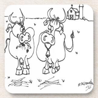 Cow Cartoon 3348 Coaster