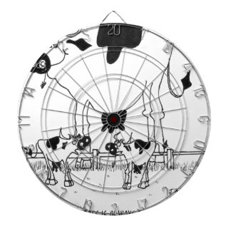 Cow Cartoon 3372 Dartboard
