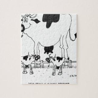 Cow Cartoon 3372 Jigsaw Puzzle