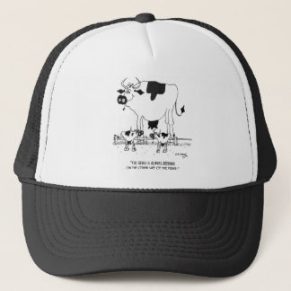 Cow Cartoon 3372 Trucker Hat