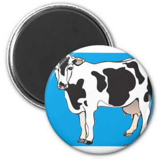 cow cartoon vectors--b 2 inch round magnet