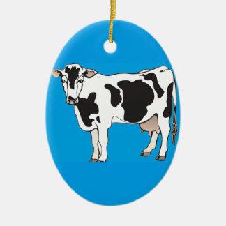 cow cartoon vectors--b ceramic ornament