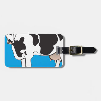 cow cartoon vectors--b luggage tag