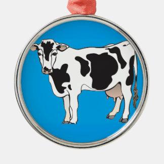 cow cartoon vectors--b metal ornament