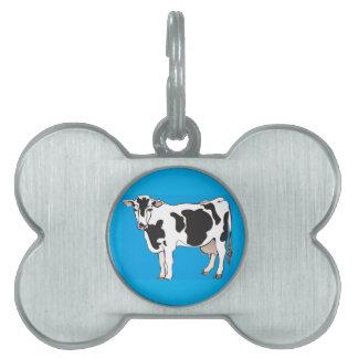 cow cartoon vectors--b pet tag