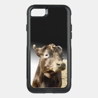 Cow Chewing Hay, Otterbox iPhone Seven Case.