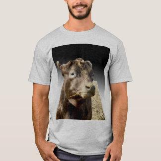 Cow_Chewing,_Pop_Out_Art,_Mens_Grey_T-shirt T-Shirt