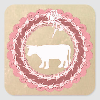Cow Christmas Sticker