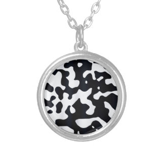 Cow coat texture silver plated necklace