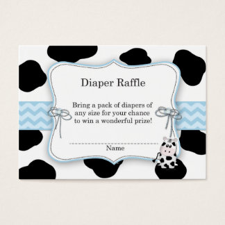 Cow Cowboy Diaper Raffle Ticket