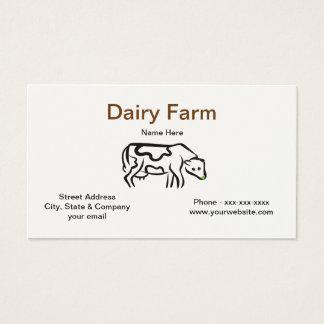 Cow Dairy Farm Business Card