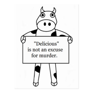Cow:  Delicious is not... Postcard