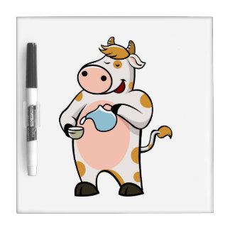 cow drinking milk Dry-Erase whiteboard