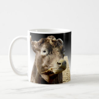 Cow Eating Hay Popout Art, Coffee Mug