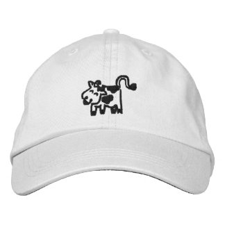 Cow Embroidered Hats