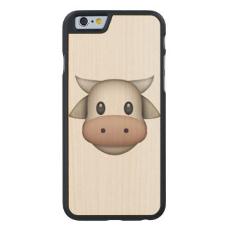 Cow - Emoji Carved Maple iPhone 6 Case