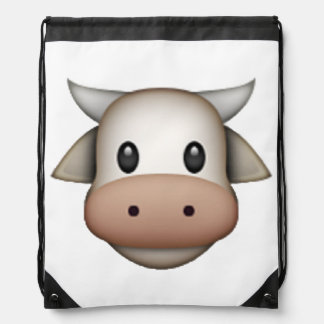 Cow - Emoji Drawstring Bag