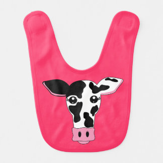 Cow Face Baby Bib