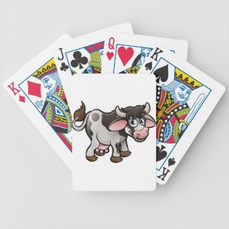 Cow Farm Animals Cartoon Character Bicycle Playing Cards