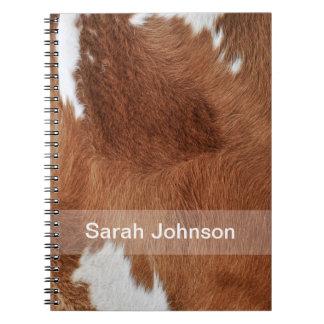 Cow Fur Notebook