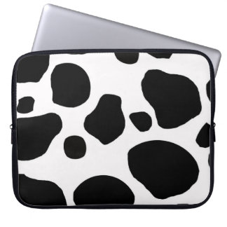 Cow fur skin hide cute nature animal pattern laptop sleeve