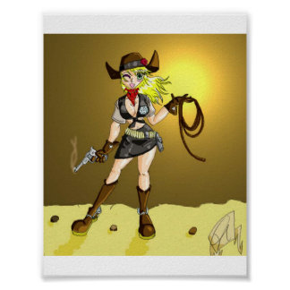 Cow Girl Poster